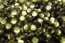 144 pieces Hotfix Iron-on 6mm Glass Rhinestones DARK JONQUIL YELLOW 1 gross 30SS