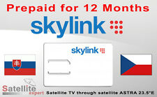 SKYLINK card STANDARD HD - M7 prepaid for 12 months  -  IRDETO