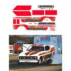 Kalitta Bounty Hunter Funny Car 1/64 scale decal AFX Tyco Lifelike Autoworld