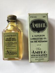 Vintage Ampro Oil bottle for projector in the original box, amproil