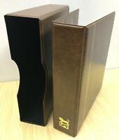 VST 50mm 4D Ring Binder & Slip Case Cover Gold Embossing  (BROWN)
