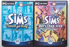DIE SIMS 1 Party ohne Ende + Sims Tierisch gut drauf ADDONs Sammlung PC Spiele
