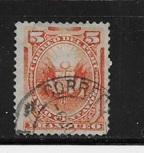 Peru Stamp - Scott #108/A19-5c-Canc/LH 1886-95-NG