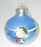 Peanuts Snoopy and Woodstock Christmas Ornament 1986 with box
