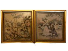 Pair Of Framed Tapestry