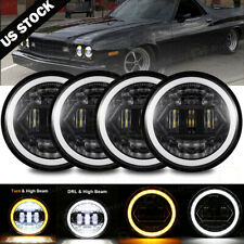 4pcs 5 34 575 Projector Led Headlights Sealed Beam Ring Head Lamp Bulbs Fits 1972 Charger