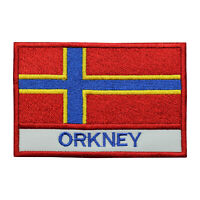 Orkney County Flag Patch Iron On Patch Sew On Embroidered Patch