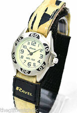 Ravel Kids Army Sand Desert Camouflage Watch, Night Glow in Dark, Fast Fit Strap