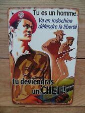 Plaque métal décorative Parachutistes guerre d'Indochine Algérie para AFN TAP