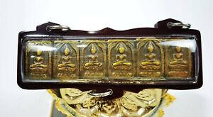 6x Phra Somdej Square SACRED YANTRA LP SUK BUDDHA POWER PROTECT AMULET Pendant
