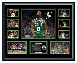 KEMBA WALKER BOSTON CELTICS NBA 2019 SIGNED PHOTO L/E FRAMED MEMORABILIA
