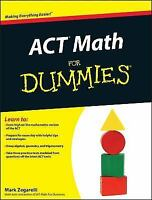 ACT Math For Dummies by Zegarelli, Mark*******NEW******