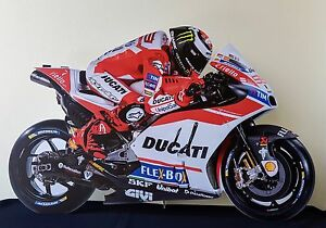 Jorge Lorenzo Display Stand Standee Figure Ducati MotoGP Motor Driver