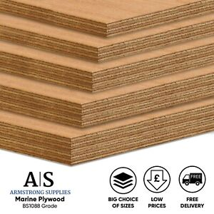 Marine Plywood 6mm 9mm 12mm 18mm 25mm BS1088 Grade Hardwood Ply Sheets