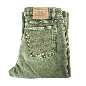 Vintage Bugle Boy Jeans Size W32 x L30 Green Stone Wash Denim Grunge 90s