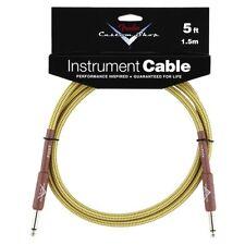 Genuine Fender® 5' Custom Shop Tweed Instrument Cable  # 0990820027 - 5 ft. feet