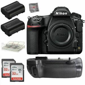 Bundle New Nikon D850 45.7MP DSLR Camera Body + Battery Grip + 32gb Accessory