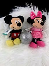 Disney Baby Micky & Minnie Mouse Mini Jingler  Plush Bell Rattlewith TAG