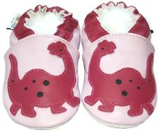 Littleoneshoes SoftSole Leather Baby Infant Children Dinosaur Lilac Shoes 12-18M