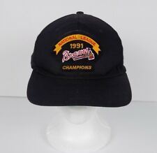 Vintage Atlanta Braves 1991 National League Champions Black Snapback Hat