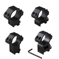 "30mm 1"" Rifle Scope Ring Mount Dovetail 11&20mm Picatinny Rail High Low Profile"