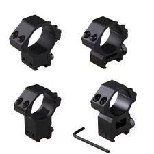 "30mm 1"" Scope Ring Mount Dovetail 11&20mm Picatinny Rail High Low Profile"