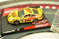 "NINCO 1/32 SLOT CARS 50256 PORSCHE 911 GERMAN RALLY ""PIRELLI""  YELLOW # 0"