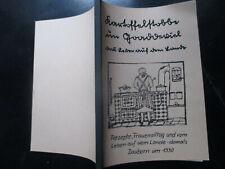 Dauborn Kochbuch mit Rezepten um 1930, Frauenalltag Leben auf dem Land
