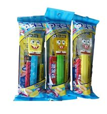 SPONGEBOB PEZ New 2020 SET OF 3 - BUBBLES, YELLOW CRYSTAL & RARE CLEAR CRYSTAL