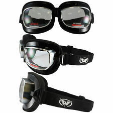 Motorcycle Protective Flight Aviator Goggles Padded Clear Large ATV Trike Quad