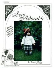 "Sew Adorable Doll Clothes Pattern, fits 18"" American Girl, Ivy League Classic"