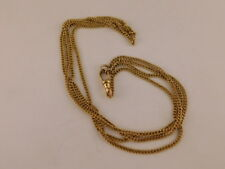"""Chain 13 Grams App 20"""" Long Vintage Antique Gold Filled Watch Fob"""