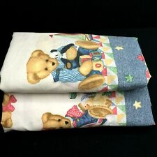 My Blue Jean Teddy Bear Crib Fitted Sheet Set of 2 BJT Toys Animals Stars USA