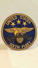 Navy USS Sixth Fleet Oval Color Cloth Patch 5 x 5 inches