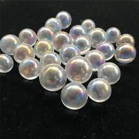 Natural Rainbow Crystal Ball Clear Quartz Sphere Aura Angel Chakra Electroplated