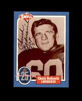 Chuck Bednarik Hand Signed 1988 Swell Philadelphis Eagles Autograph
