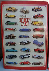 HP Blechschild Sportscars Historie Aus DM Zeiten 60 x 40 cm Daimler Ford Bugatti