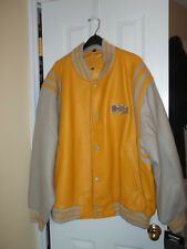 Yellow Leather Hummer Jacket / Size 4xl / New with tags