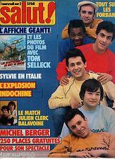 SALUT ! n°199 ¤ 1983 ¤ INDOCHINE / LES FORBANS / SYLVIE VARTAN + POSTER AFFICHE