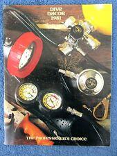 New listing Vintage 1981 Dacor Scuba Catalog Vista Masks Watches Uw Photo Accessories