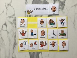 PECS/Boardmaker 15 Large Emotions Cards for autism/ADHD/ASD/visual learning