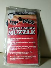 Top Paw Flexible Nylon Fabric Dog Muzzle, Size 4
