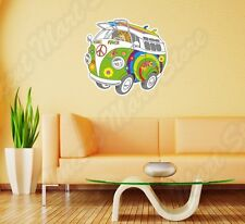 "Hippie Bus Peace Love Woodstock Life Wall Sticker Room Interior Decor 22""X22"""