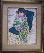 punto croce mezzo punto da dipinto di Pablo Picasso Paulo vestito da Arlecchino