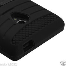 LG Lucid 2 VS870 Verizon Hybrid H Armor Case Skin Cover w/Stand Black