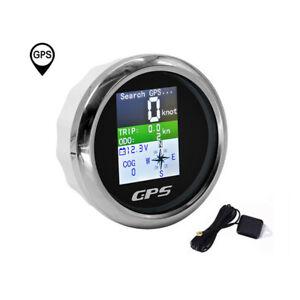 85mm TFT GPS Speedometer Odometer Trip COG Voltmeter For Car Boat ATV Waterproof