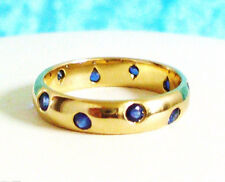 NIB Beautiful TIFFANY & Co. 18K Yellow GOLD + 10 Blue SAPPHIRES Etoile Ring