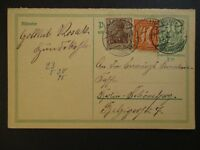 1922 Berlin Schöneberg Germany Multi Franking Inflation Postcard Cover