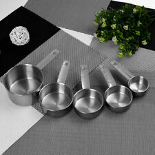 5 Pcs/set Durable Stainless Steel Measuring Cups Spoons Set Kitchen Baking Tools