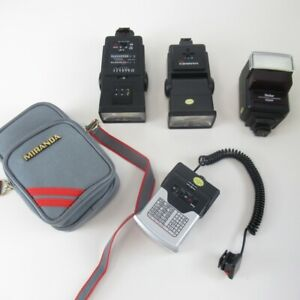 Bundle of Camera Flashes Untested JobLot Vivitar 628AF Hanimex TZ1 Miranda 700CD